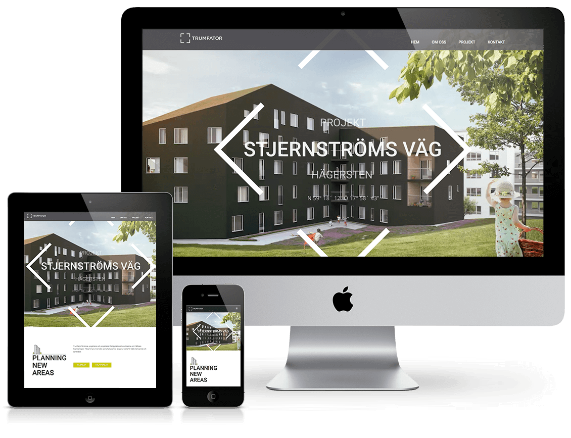 trumfator webpage design