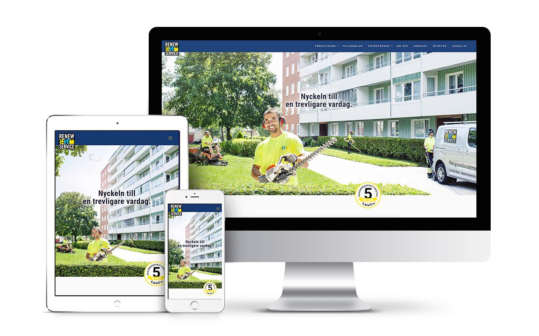 renewservice website design
