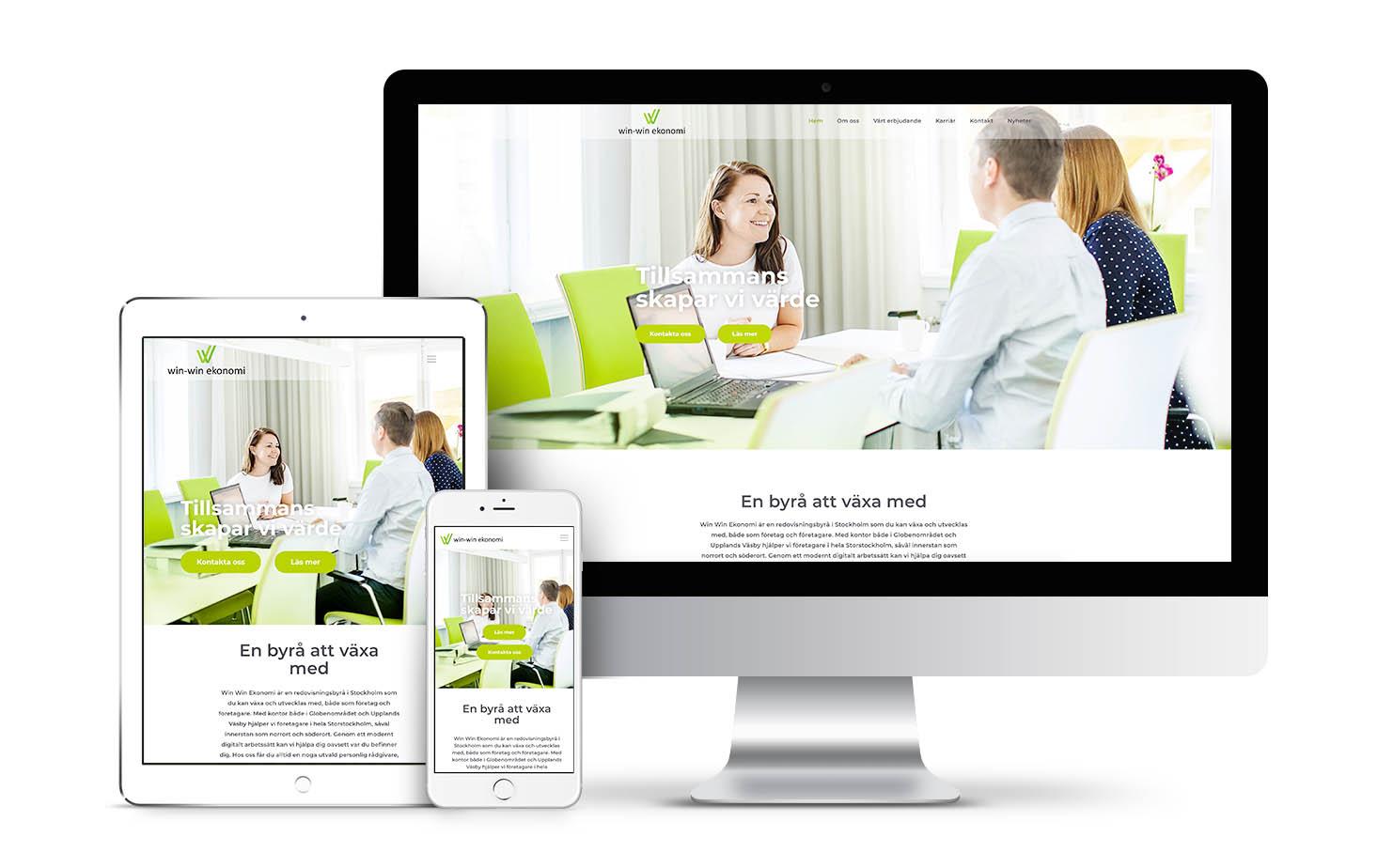 win win webpage design