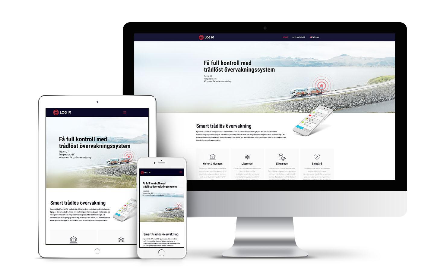 log it webpage design